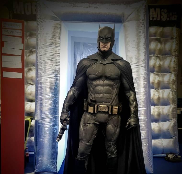 Batman visits the Mobile Escape Rooms